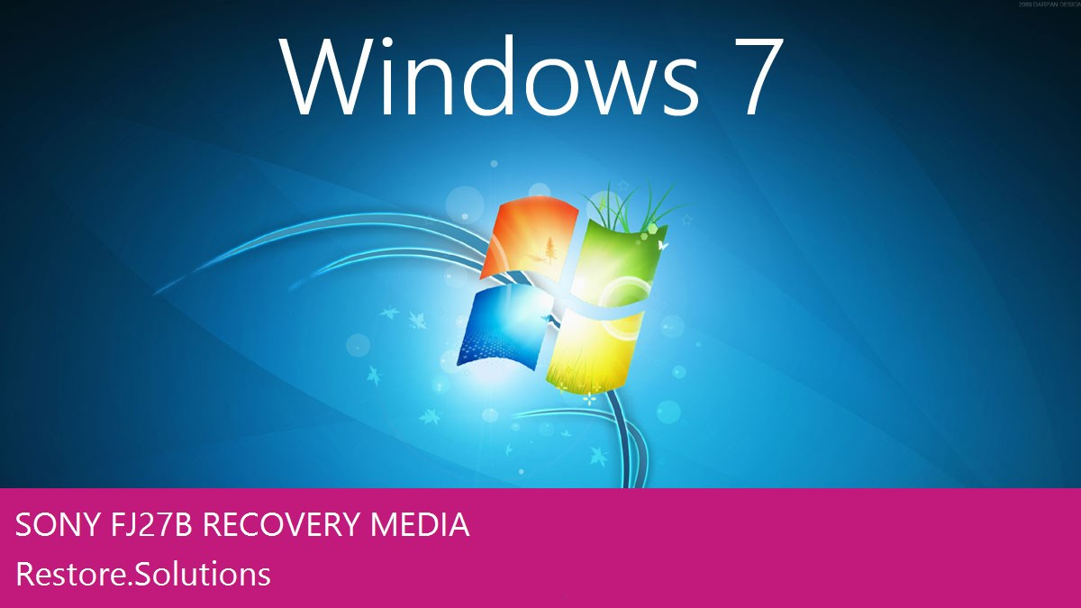 Sony FJ27B Windows® 7 screen shot