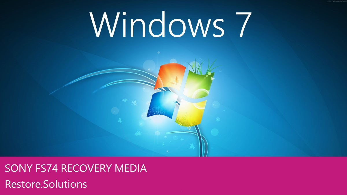 Sony FS74 Windows® 7 screen shot