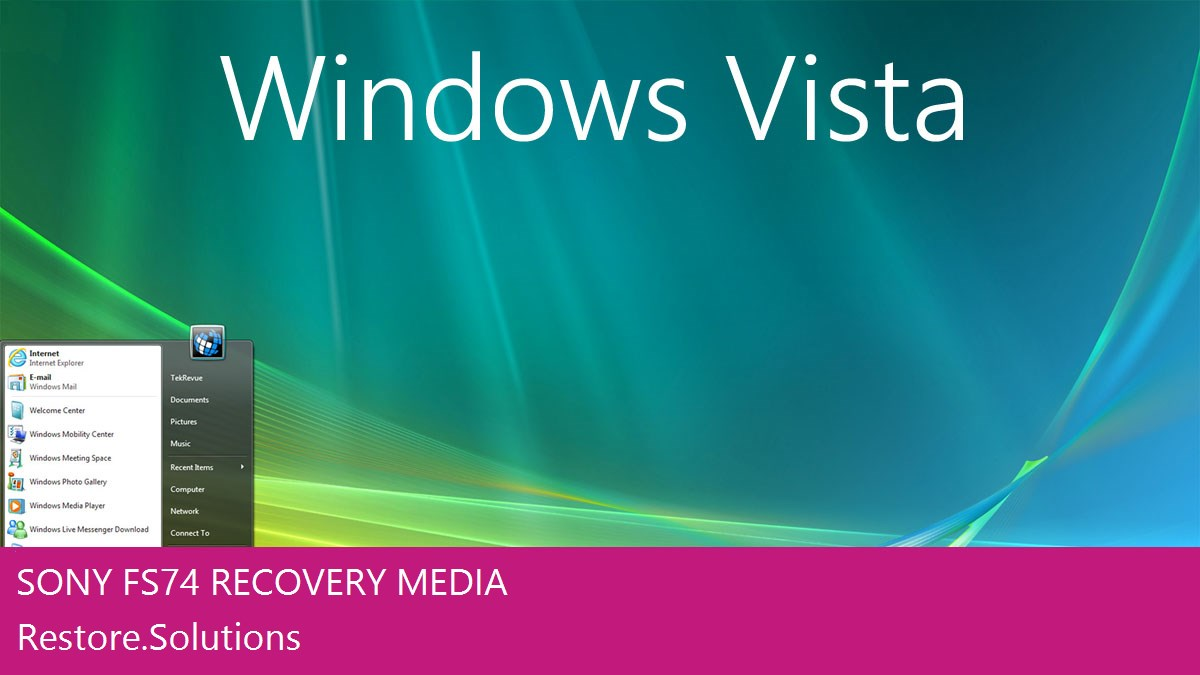Sony FS74 Windows® Vista screen shot