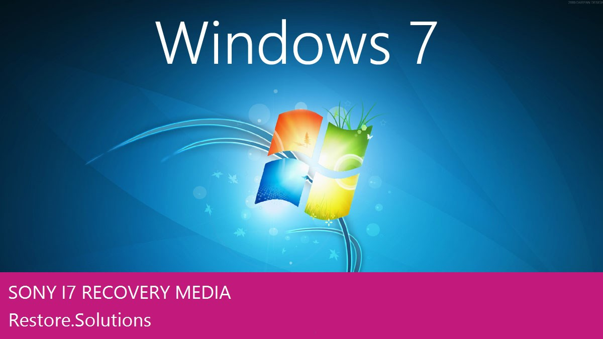 Sony i7 Windows® 7 screen shot