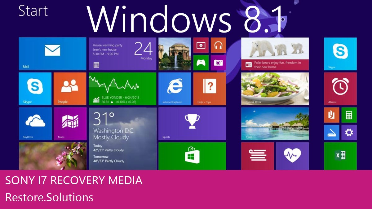 Sony i7 Windows® 8.1 screen shot