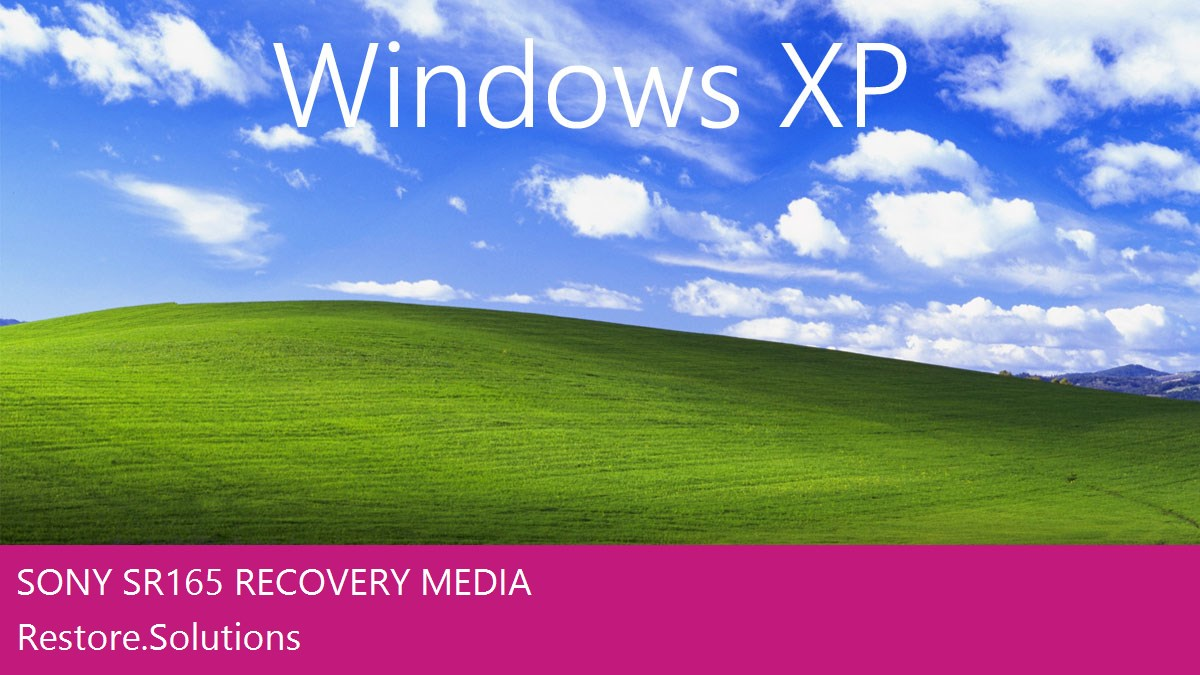 Sony SR165 Windows® XP screen shot