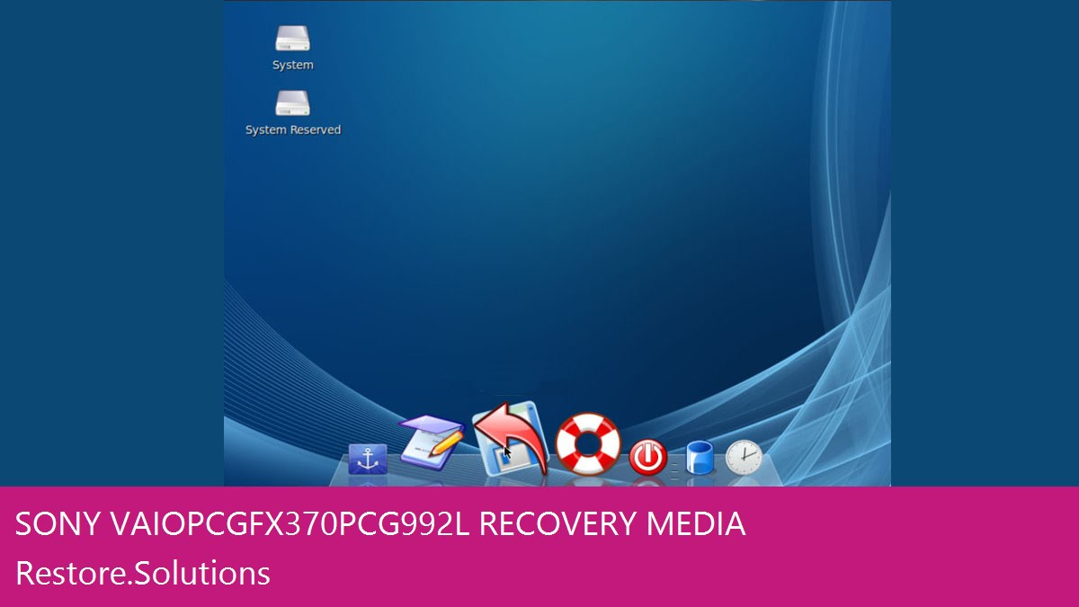 Sony Vaio PCG-FX370 - PCG-992L data recovery
