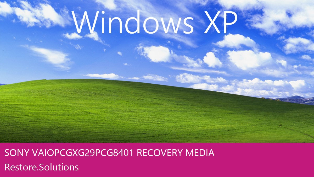 Sony Vaio PCG-XG29 - PCG-8401 Windows® XP screen shot