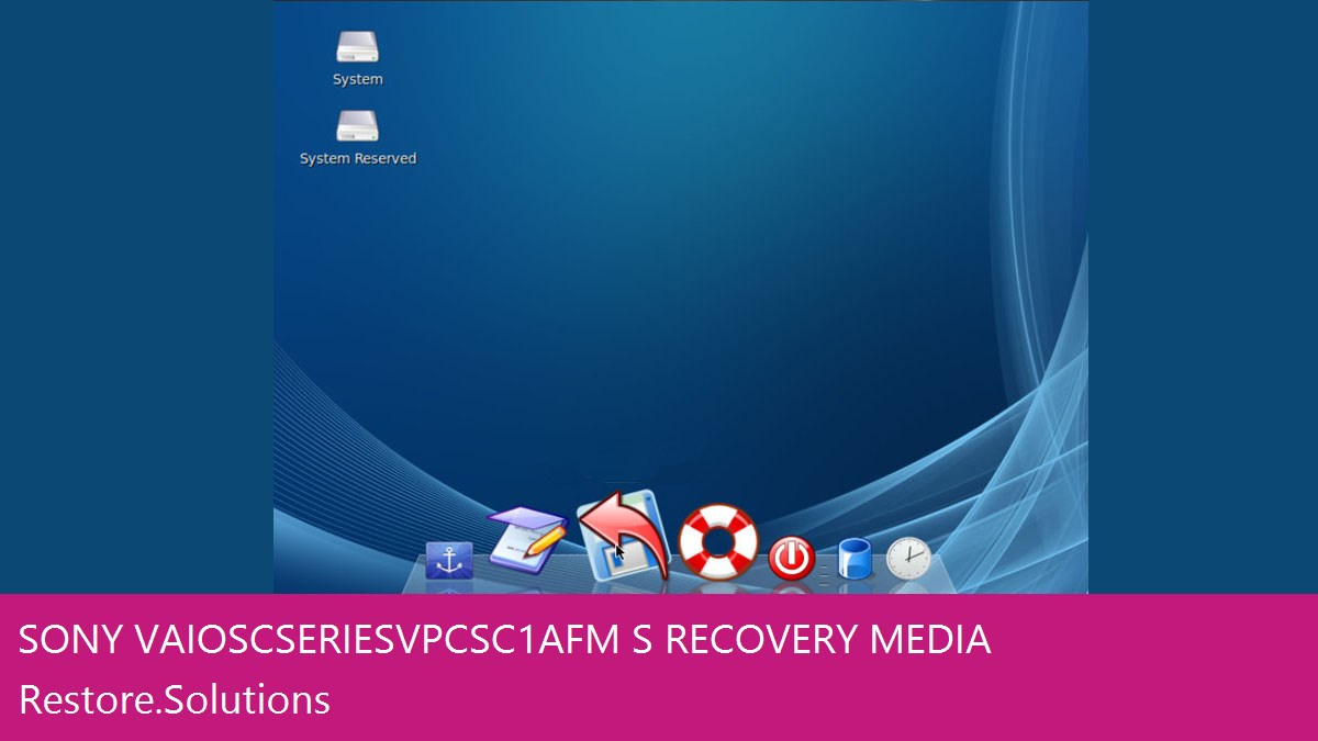 Self Contained Sony® VAIO SC Series VPC-SC1AFM/S Data Recovery Operating System Software
