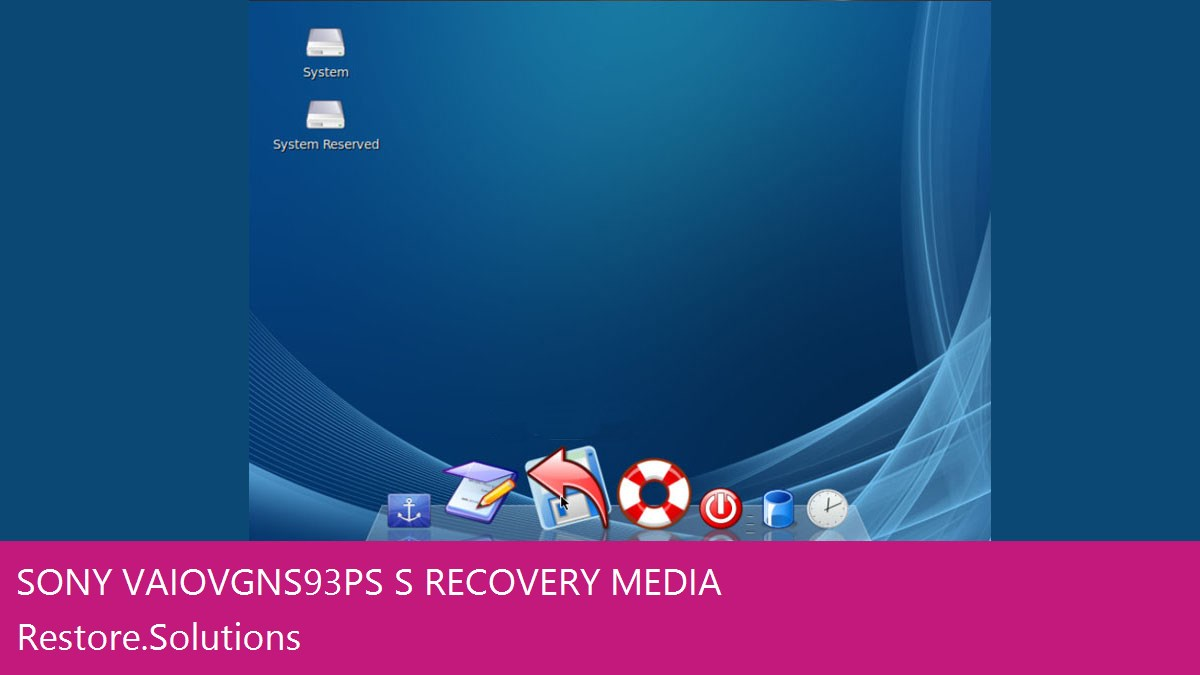 Sony Vaio VGN-S93PS/S data recovery