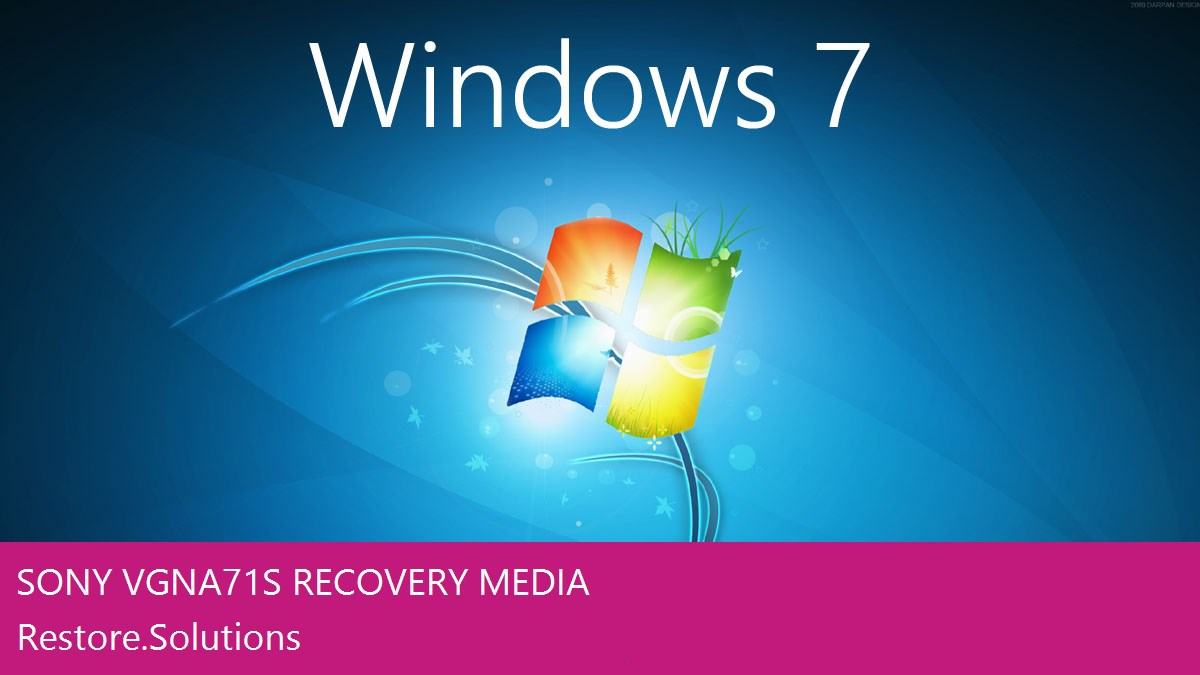 Sony VGN-A71S Windows® 7 screen shot