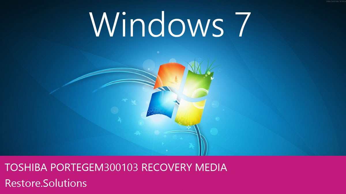 Toshiba Portege M300-103 Windows® 7 screen shot