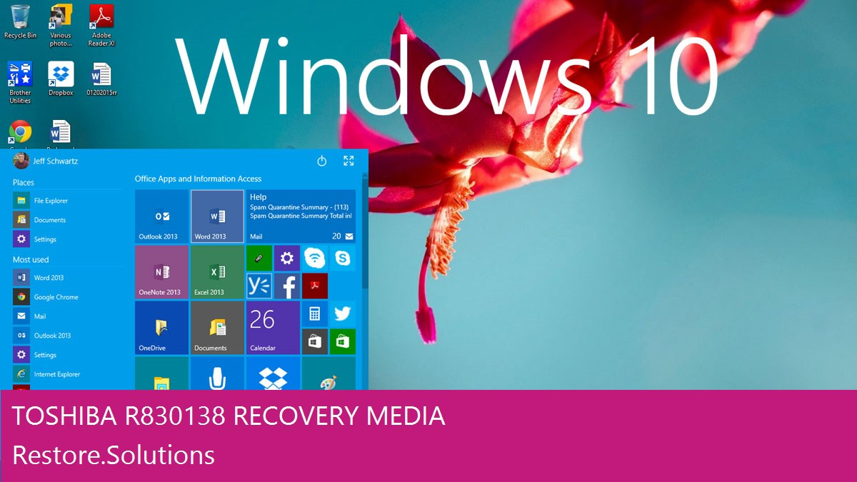 Toshiba R830-138 Windows® 10 screen shot