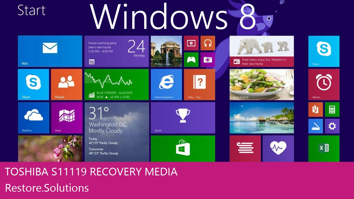 Toshiba S11-119 Windows® 8 screen shot
