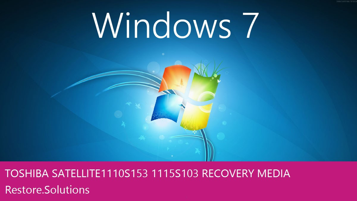 Toshiba Satellite 1110-S153/1115-S103 Windows® 7 screen shot