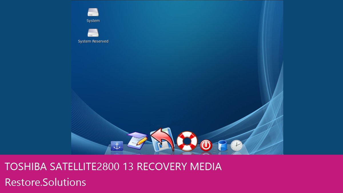 Toshiba Satellite 2800/13 data recovery