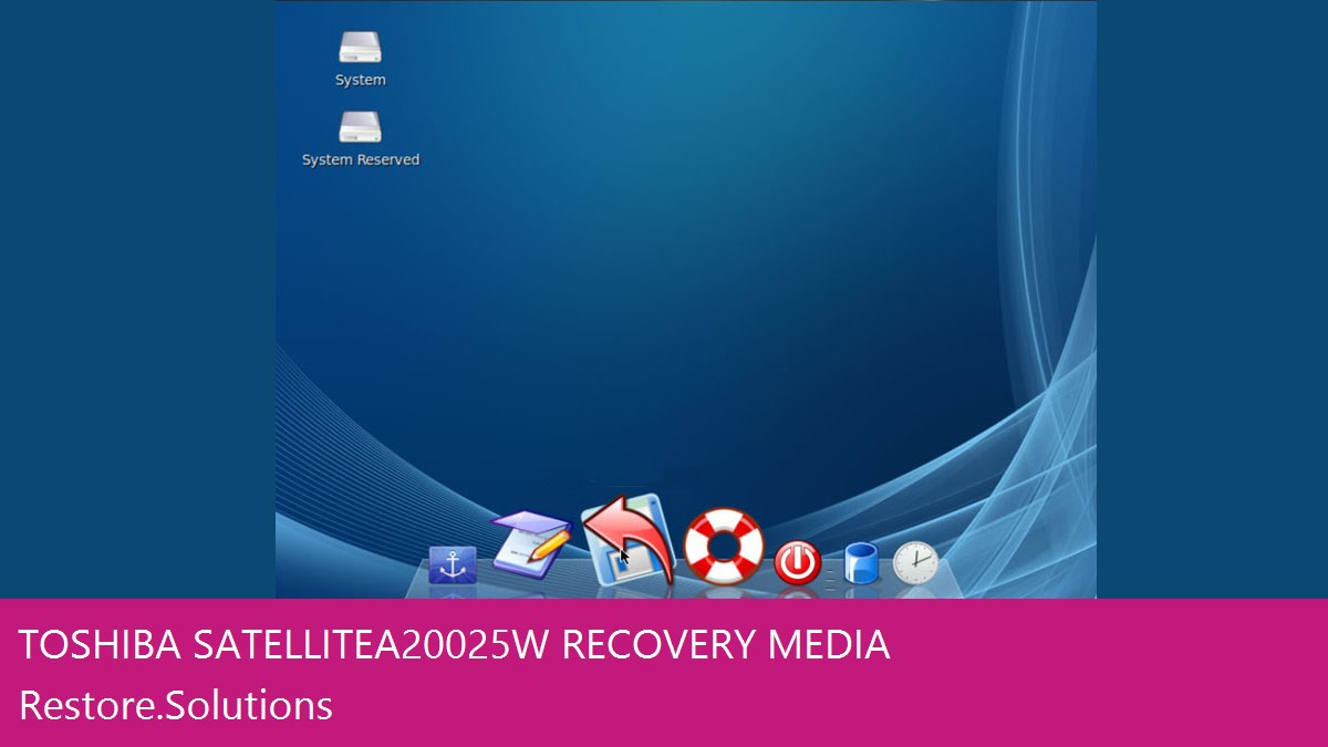 Toshiba Satellite A200-25W data recovery
