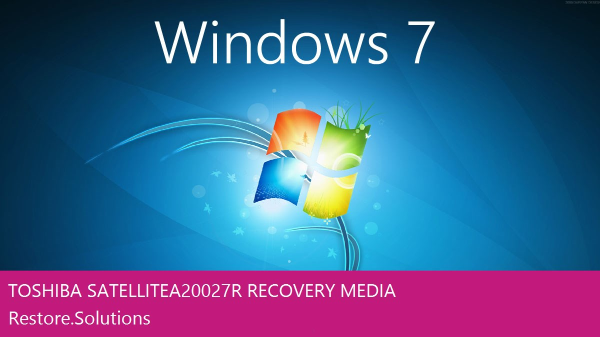 Toshiba Satellite A200-27R Windows® 7 screen shot