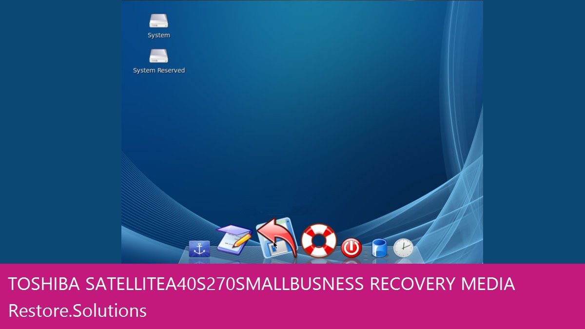 Toshiba Satellite A40-S270 Small Busness data recovery