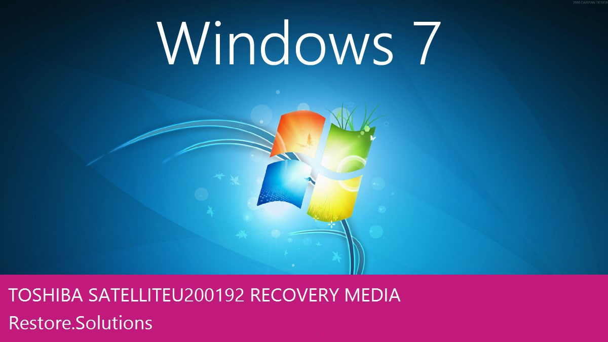Toshiba Satellite U200-192 Windows® 7 screen shot