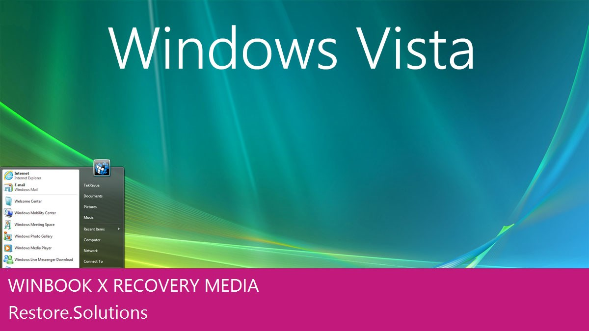 Winbook X Windows® Vista screen shot